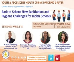 Webinar on Back to School  New Sanitization and Hygiene Challenges for Indian Schools