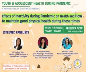 Webinar on effects of physical inactivity  on health  of Youth and Adolescent