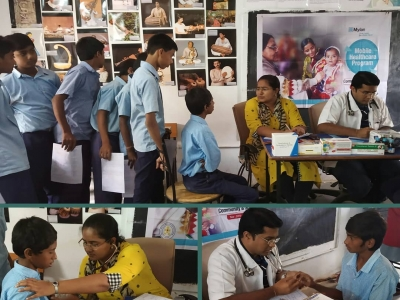 Extensive health screening camps for government schools in Hyderabad
